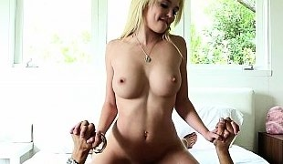 Petite Tiffany sliding on a cock