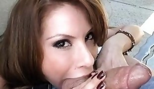 Delightsome chick is fucked zealously from behind